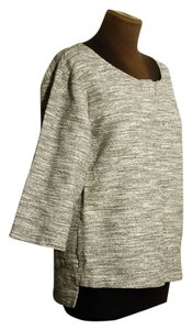 Philosophy di Alberta Ferretti Textured Italy 3/4 Sleeve Top grey