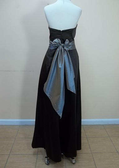 Impression Bridal Chocolate/Copper Satin 1756 Formal Bridesmaid/Mob Dress Size 14 (L)
