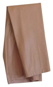 Armani Collezioni Leather Luxury Exclusive Straight Pants Butterscotch