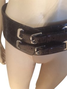 Ralph Lauren Ralph Lauren Purple Label Crocodile Runway Belt