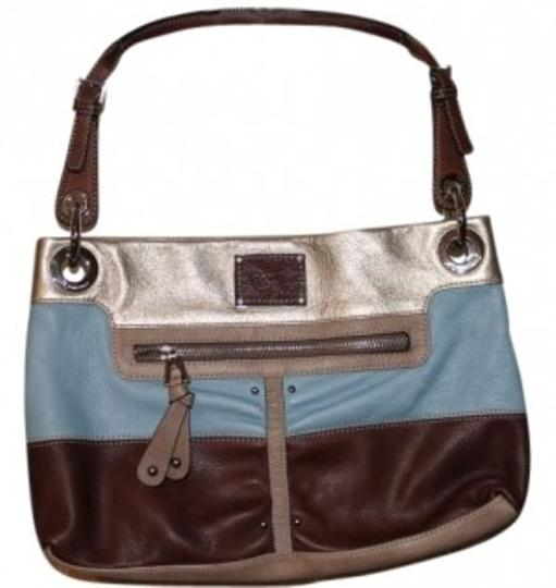 Preload https://item2.tradesy.com/images/b-makowsky-baby-blue-brown-gold-with-gold-accents-leather-shoulder-bag-13986-0-0.jpg?width=440&height=440