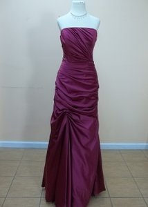 Impression Bridal Plum Satin 1769 Formal Bridesmaid/Mob Dress Size 12 (L)