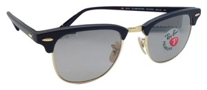 Ray-Ban Polarized CLUBMASTER Ray-Ban Sunglasses RB 3016 901S/P2 Black & Gold Frame w/Grey Lenses
