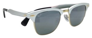 Ray-Ban New Ray-Ban Sunglasses CLUBMASTER ALUMINUM RB 3507 137/40 51-21 Silver Frame w/Grey Mirror