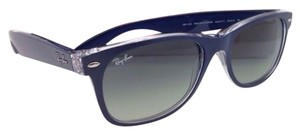 Ray-Ban New RAY-BAN Sunglasses NEW WAYFARER RB 2132 6053/71 55-18 Blue-Clear Frame w/Grey Gradient Lenses