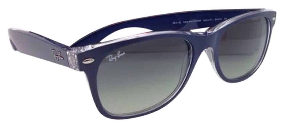 Ray-Ban New Wayfarer Rb 2132 6053/71 55-18 Blue-clear