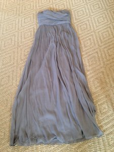 J.Crew Grey Silk Crumpled Chiffon Style 41367 Dress