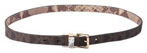 Michael Kors * Michael Kors Monogram Snakeskin Revisable Belt 38/M
