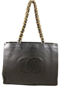 Chanel Black Large Tote Shoulder Bag