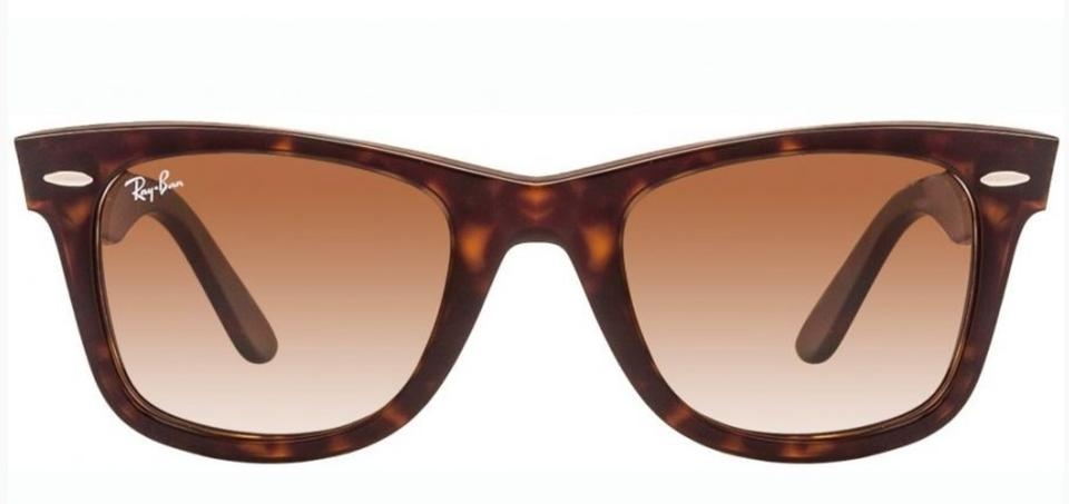 7943ebe808 Ray-Ban Rb 2140 902 51 50-22 Wayfarer Havana Frame Brown Gradient New 902 51  Tortoise W Brown Lenses Sunglasses