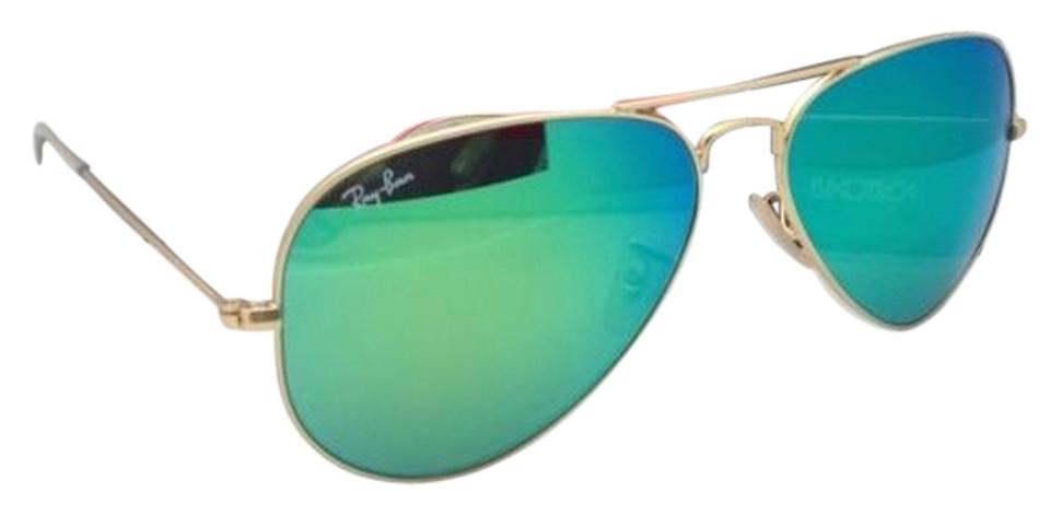 098d0178c04e9 Ray-Ban Rb 3025 Large Metal 112 19 58-14 Matte Gold  Green Mirror ...