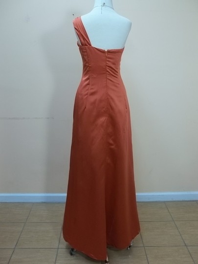 Impression Bridal Burnt Orange Satin 1776 Formal Bridesmaid/Mob Dress Size 14 (L)