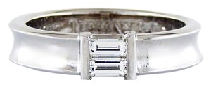 Tiffany & Co. Tiffany & Co 18K White Gold Baguette Diamonds Engagement Band/Ring
