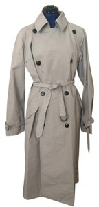 Max Mara Designer Belted Utility Trench Raincoat
