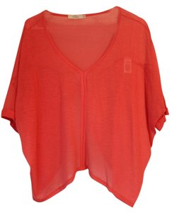 Elodie Open Back Gauze Top Coral