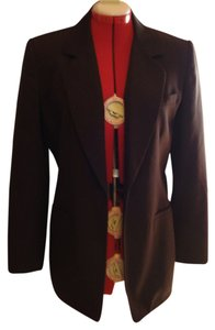 Liz Claiborne One Button Size 6 Brown Blazer
