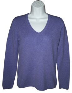 Charter Club Cashmere Purple V-neck Sweater