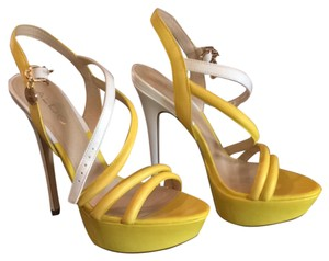 Aldo Yellow And Cream Pumps