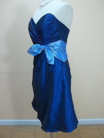 Impression Bridal Indigo/Cornflower Taffeta 20039 Formal Bridesmaid/Mob Dress Size 10 (M)