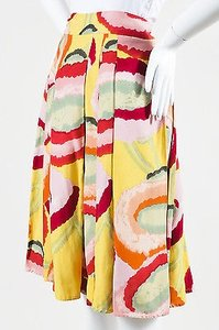 Kenzo Red Yellow Multicolor Skirt Multi-Color