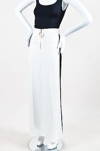 Céline Black Stripe Detail Wide Leg Pants