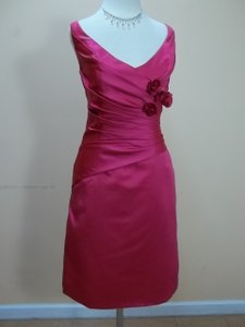Impression Bridal Fuchsia Satin 20045 Formal Bridesmaid/Mob Dress Size 12 (L)