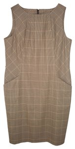 Talbots Wool Plaid Check Houndstooth Sheath Dress