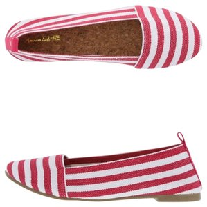 American Eagle Outfitters Red/white Flats