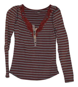 Free People Top Red and light blue