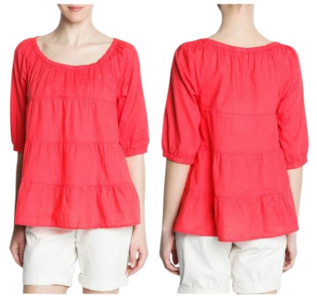 Mango Oversized Top Coral