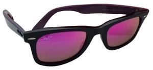 Ray-Ban New RAY-BAN WAYFARER Sunglasses RB 2140 1174/4T 50-22 Black Frame w/Pink-Purple Mirror
