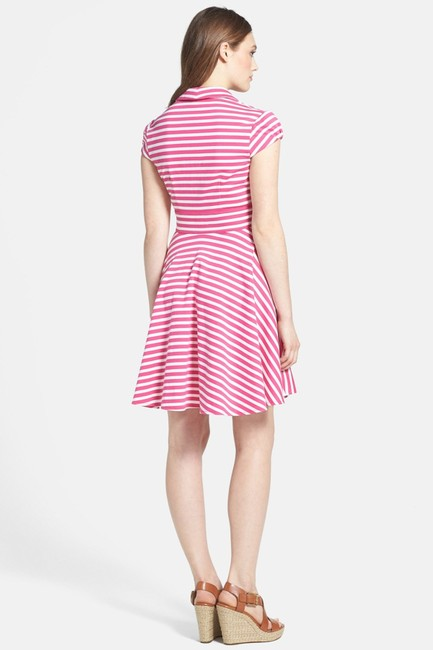 Betsey Johnson short dress Pink New With Tags Striped Cap Sleeve on Tradesy