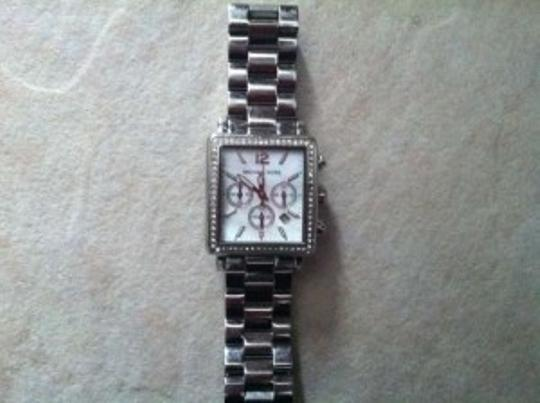 Michael Kors Michael Kors Quartz Mother of Pearl Dial Silver Band