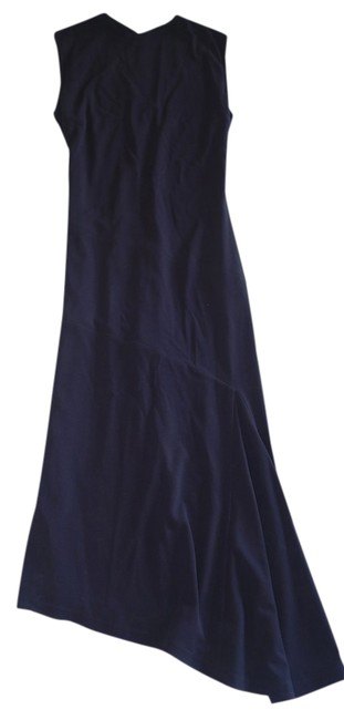 Item - Navy Sleeveless Asymmetrical (Tres Chic ) ~ 42 Long Cocktail Dress Size 6 (S)