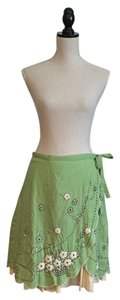 Odille Skirt Green with Yellow Stripe Ruffle