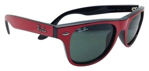 Ray-Ban Junior Collection Kids Ray-Ban Sunglasses JR 9035-S 162/71 Red & Black Frame w/ Green Lenses