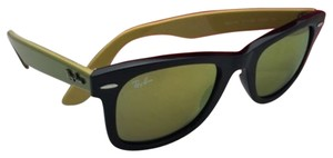 Ray-Ban New RAY-BAN WAYFARER Sunglasses RB 2140 1173/93 50-22 Black Frame w/ Gold Mirror Lenses