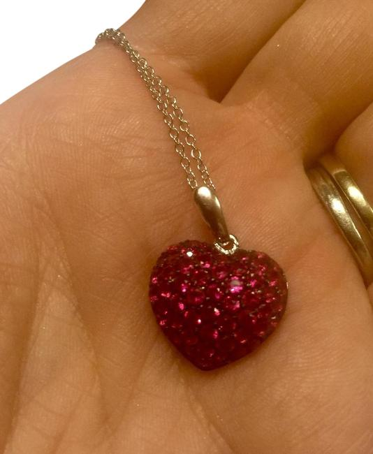 Savvy Cie Red Simulated Ruby Pendant Necklace Savvy Cie Red Simulated Ruby Pendant Necklace Image 1