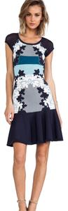 Diane von Furstenberg short dress Navy, Blue and White on Tradesy