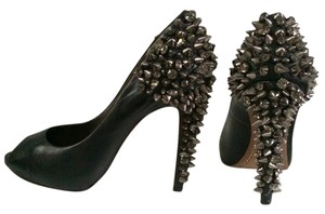 Sam Edelman Pumps Studded Heels Embelished Rhinestones Black Sandals