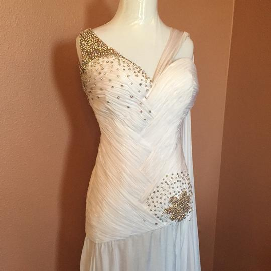 Mac Duggal Couture White Wedding Dress Size 2 (XS)
