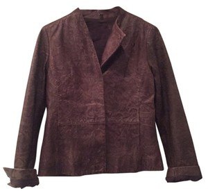 MM6 Maison Martin Margiela Brown Leather Jacket