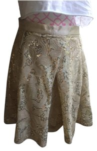 Anthropologie Mini Skirt Champagne