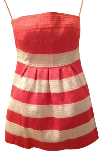 Preload https://img-static.tradesy.com/item/1399184/wow-orange-and-cream-pop-out-above-knee-cocktail-dress-size-8-m-0-0-650-650.jpg