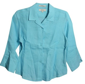 Façonnable Banana Republic Button Up Dress Shirt Button Down Shirt Teal
