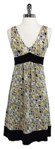 Diane von Furstenberg short dress Yellow/Black Silk on Tradesy