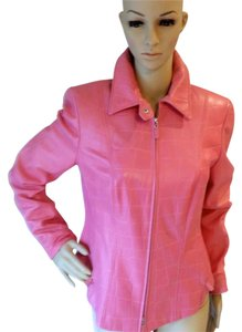 Escada Goatskin Leather Pink Leather Jacket