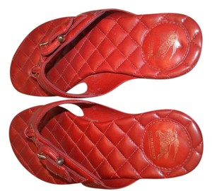 Burberry Leather Quilted red Sandals