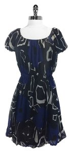 Theory short dress Navy/Black Silk on Tradesy