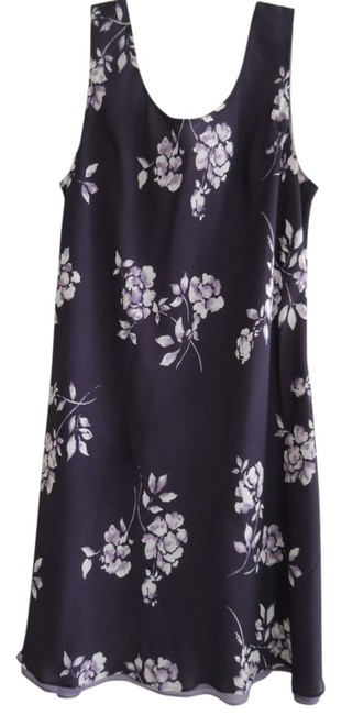 Preload https://img-static.tradesy.com/item/13993030/ann-taylor-white-and-purple-floral-print-on-purple-background-slip-on-shift-style-slight-tapering-ne-0-1-650-650.jpg